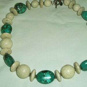 J.R.I 925 M.E.X Natural Stone Necklace!